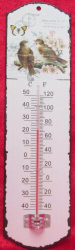 Metall, Außenthermometer Thermometer Garten Vintage Vögel Postkartendesign