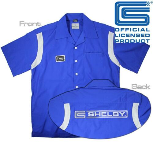 Shelby WORK SHIRT OFFICIAL LICENSED Mechanic Camicia a maniche corte PIT CREW COBRA Mustang