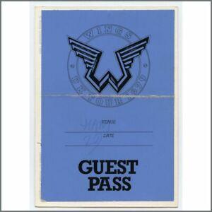 Paul Mccartney 1979 Wings Uk Tour Guest Pass Uk Ebay