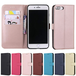 For-iPhone-4S-5C-5-5S-6-6S-7-8-Plus-X-Cover-Wallet-Flip-PU-Leather-Stand-Case