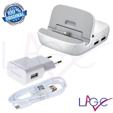 Base Ricarica Samsung Docking Station HDMI 3 USB Originale Galaxy S3 S4 Bianco