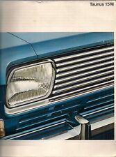 Ford Taunus 15M 1966-67 UK Market Sales Brochure Saloon Coupe Station Wagon