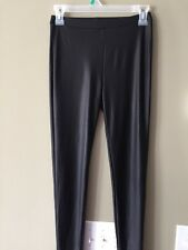 Forever 21 Size sm patten Leather Leggings Women's Black Pants shiny