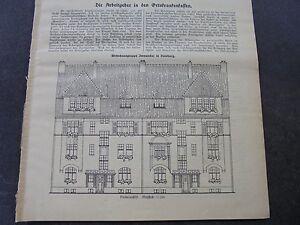 1913 Baugewerkszeitung 4/duisburg Immendal-ung 4 / Duisburg Immendal Fr-fr Afficher Le Titre D'origine