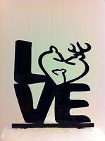 Love Heart Deer Family Wedding Cake Topper Made In Usa…..ships From Usa