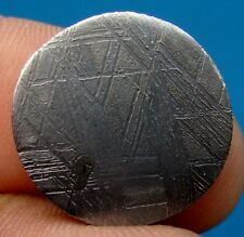 GIBEON meteorite KILLER etched slice 7.69 G. round coin 19x4 mm ETCHED
