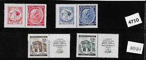1941-Stamp-complete-set-MNH-Third-Reich-Wolfgang-Mozart-Germany-Occupation