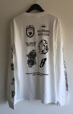 BBC BILLIONAIRE BOYS CLUB MULTI LOGO SLEEVE TEE WHITE SIZE XL