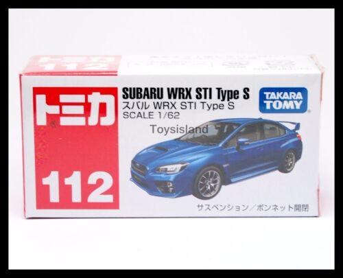 TOMICA 112 SUBARU WRX STI TYPE S 1//62 TOMY 2015 JULY NEW MODEL NEW DIECAST CAR
