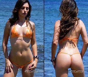 Sexy Dream-Luxury Extrem Micro String-Bikini ★STRETCHLACK METALLIC★ Mini Tanga