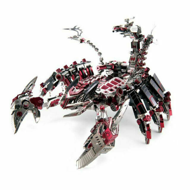 Scorpion 3D metal puzzle laser cut models Metal Earth Rompecabezas de metal Fascinations
