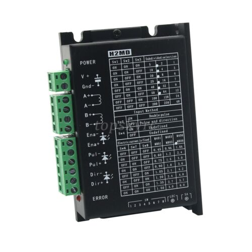 H2MD Stepper Motor Driver Controller DC 20-80V 6A for CNC Router Laser Engraving