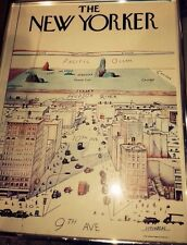 The New Yorker Saul Steinberg Originial Expessionism 1976 poster 19x14