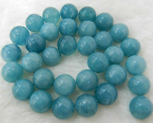 "10mm Brazilian Aquamarine Gems Round Loose Bead 15/""AAA+"