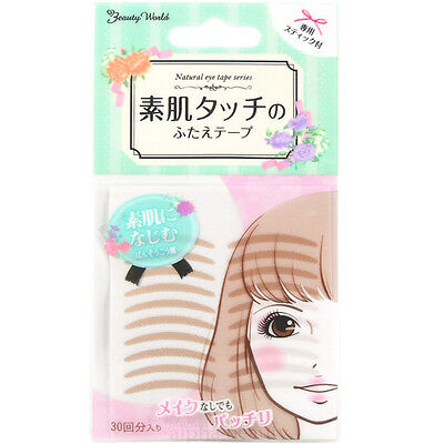 Lucky Trendy Japan Double Eyelid Adhesive Tape (30 pairs) - Natural