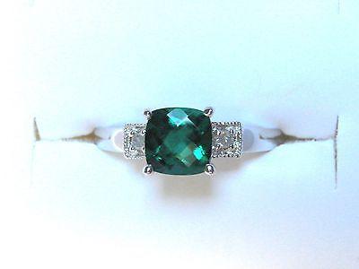 1.04ct Ct Smaragd Und Diamant Sterlingsilber Ring