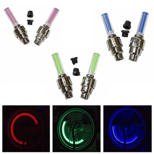 2PC LED Motion Wheel Lights Flash Tire Valve Cap Bike Bicycle Car Visible Colors