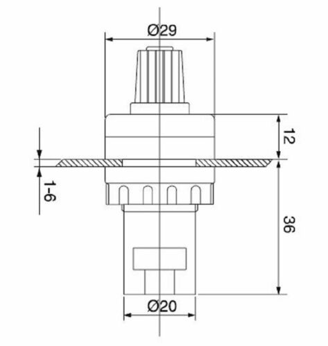1pcs LA42DWQ-22 22mm Diameter Rotary Potentiometer YB364-SZ 1K 2K 5K 10K Ohm