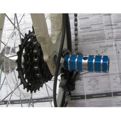 "1XPPAAR MTB-Fahrrad Bike BMX Pegs Kinder Fußfrei Rasten 3//8/""Achse Fußraste BLAU"
