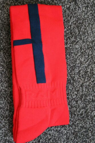 Wholesale Football Red Navy Socks Boys Girls 12 2 UK 3537 Soccer Rugby Hockey