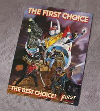 First Comics 1987 Nexus Grimjak Badger Jon Sable Dorman Flagg PROMO Poster FNVF