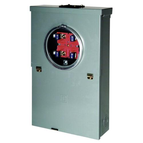 Square D Main Breaker Panel 100 Amp 10-Space 20-Circuit Outdoor Ring-Type