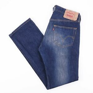 Vintage-Levi-039-s-501-Regular-Straight-Fit-Men-039-s-Blue-Jeans-W31-L32