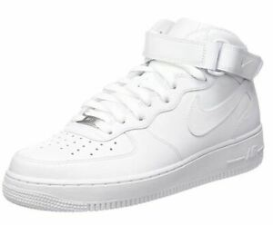 Nike-Air-Force-1-one-Mid-315123-111-White-Leather-Classic-Casual-Men