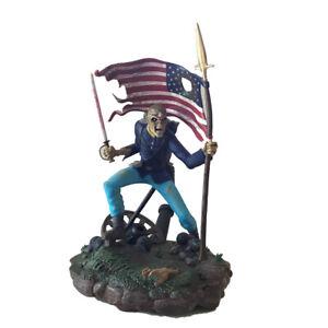 IRON-MAIDEN-LEGACY-OF-THE-BEAST-TROOPER-EDDIE-1-10-FIGURINE-STATUE-American-flag