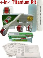 Youyaner 4 in 1 Microneedle Derma Roller Kit and Numb Cream and How-to Guide