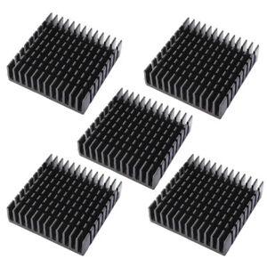 US 5Pcs 40x40x11mm Anodized Aluminium Heatsink Thermal Pads Kit For CPU ^