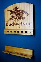 Budweiser Wall Mount Billiards Pool Cue Stick Rack