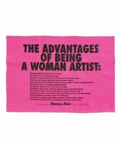 Advantages Of Being A Woman Tea Towel X Guerrilla Girls Ebay