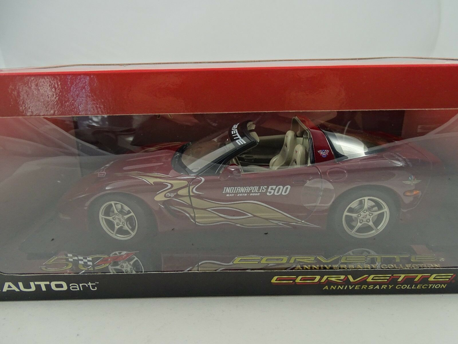 1 18 AUTOart - CHEVROLET CORVETTE INDIANAPOLIS 500 PACECAR 2002 50th Ann. RAR  §