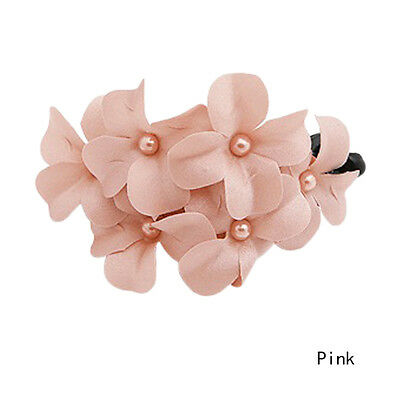 Chic Great Women Girl Handmade Flower Banana Barrette Hair Clip Hair Pin Claw