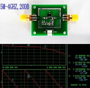 LNA-5M-4GHZ-20dB-Low-Noise-RF-wideband-amplifier-Module-NF-1-1dB-HF-VHF-UHF