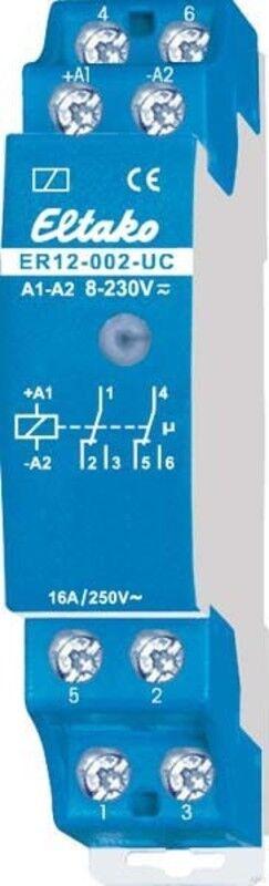 Eltako Steuerrelais für Reihen-EB 2W pot. frei 16A 250V ER12-002-UC | Ausgezeichnetes Handwerk