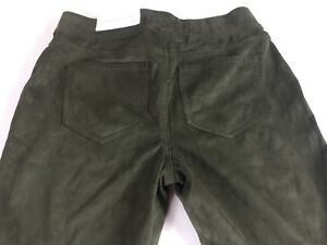 Cato-Contemporary-Suede-Pants-Women-039-s-XS-Stretch-Green-27-x-31-Actual-Soft-NEW
