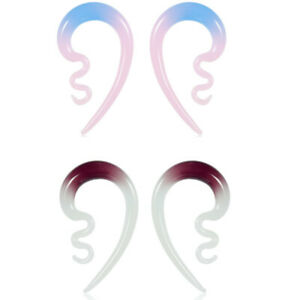 Colorful-Ear-Design-Ear-Gauges-and-Ear-Tunnels-Body-Jewelry-Ear-Plugs-2pcs
