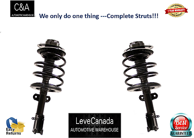 2 Front Complete Struts Springs Fits 2011-2014 VW Jetta Wagon