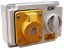 E SI16314 ESR IP44 Yellow Industrial Switched Interlocked Socket 110V 16A 2P