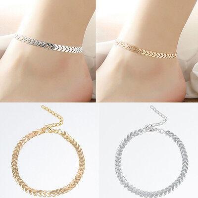 Women Boho Gold Ankle Chain Anklet Bracelet Arrow Barefoot Sandal Foot Jewelry