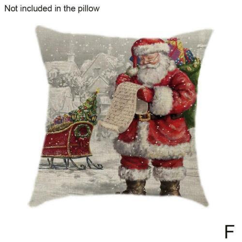 Leinen kissenbezug Santa Baumwolle Leinen Sofa Auto Home Cover Werfen Decor L9N9
