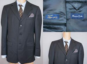 Herrenmode Herren Massimo Dutti Jacke Blazer Super 100's Wolle M It48 Us Uk 38 Qaa303 Elegante Form Anzüge