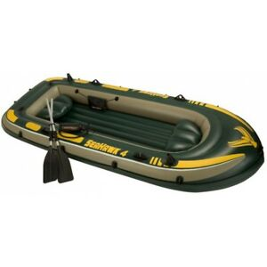 Intex-Boot-Seahawk-4-Set-351x145x48cm-Schlauchboot-Paddelboot-Gummiboot-NEU