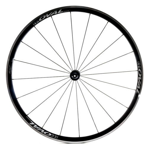 Oval Concepts 327 700c Alloy Road Bike Front Wheel Clincher Silver//White QR NEW