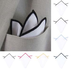23cm-Men-Cotton-Blazer-Suit-Pocket-Square-Organic-White-Handkerchief-Hankies