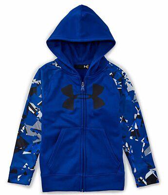 NWT Under Armour Boy/'s Full-Zip Fleece Hoodie Volt Big Logo Size 5