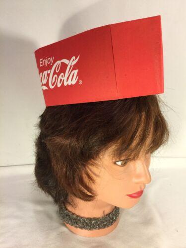 6 Coke Coca Cola Paper Soda Jerk Hat ~ Enjoy-Cola
