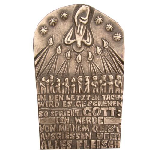 Bronce relief Pentecostés 14 cm